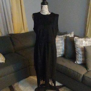 Rachel by Rachel Roy Fringe Faux Suede Dress